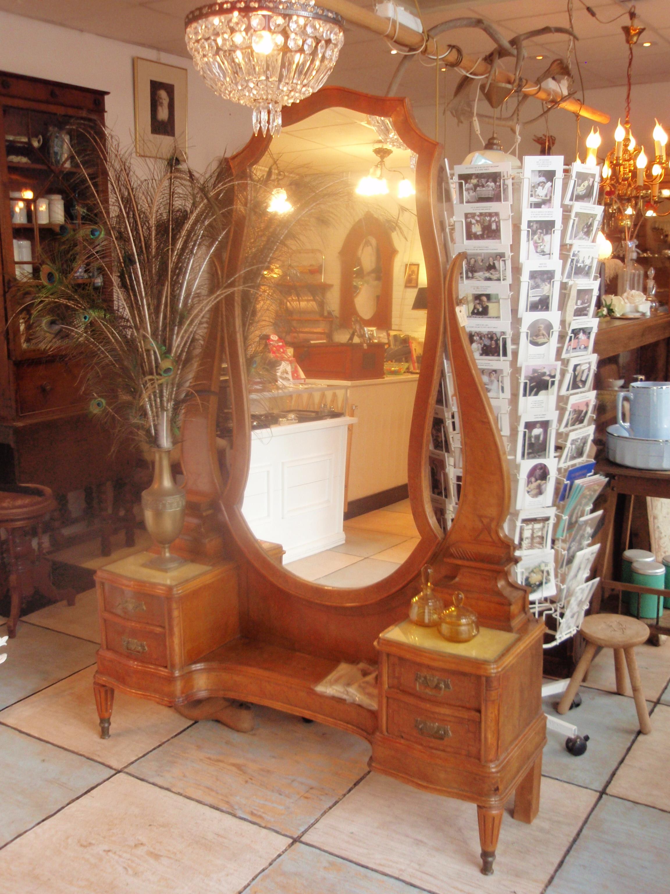 Art deco kaptafel spiegel - Deco spiegel ...